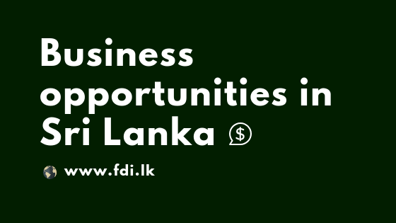 Business opportunities in Sri Lanka